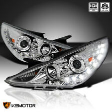 For 2011-2014 Sonata Chrome SMD LED Daytime Running DRL Projector Headlights
