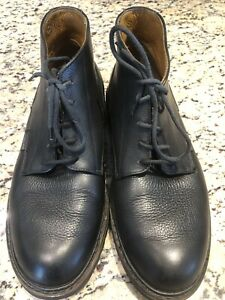 Men's Mephisto Ankle Boot Black Leather Made in France SZ 8.5