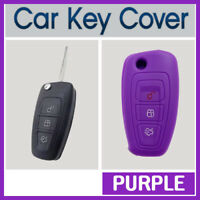Silicone Car Key Cover Protector Fits for Ford Ranger Focus Fiesta Mondeo PURPLE