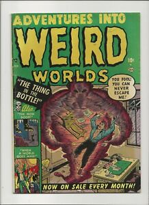 Adventures Into Weird Worlds 2 VG++ 4.5 Joe Maneely Cover Golden Age Horror 1954