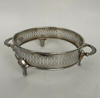 Vintage I.S. Co. Silverplated Round Footed Ornate Casserole Dish Buffet Stand
