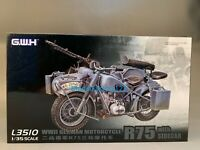 Great Wall Hobby L3510 1/35 WWII German BMW R75 Motorcycle w/Side Car