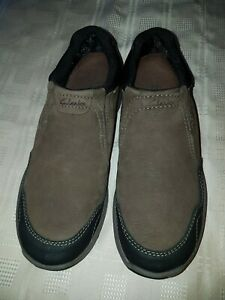 CLARK'S Brown leather Men's Shoes Size UK7 EU40 very Nice Pair OF Shoes