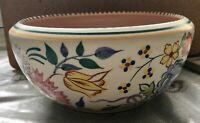 Vintage 1950/1960's Poole pottery floral fruit bowl 16cm diameter.