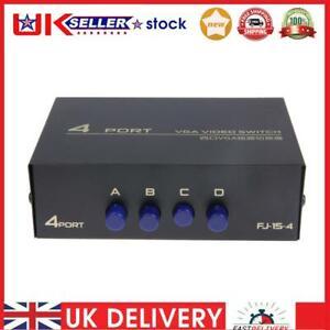 130MHz 1 to 4 Monitor Switch VGA Video Splitter Converter Adapter Box