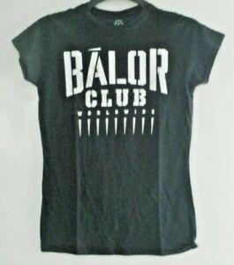WOMENS/GIRLS BALOR CLUB WORLDWIDE WWE BLACK MEDIUM SHORT SLEEVED T-SHIRT. NEW