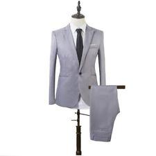 2PCS Men Blazer Suit Slim Fit Tuxedo Coat Pants Trousers Formal Wedding Groom CA