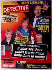 DETECTIVE du 20/02/2008; Secret d'Henri Salvador/ Nouzonville; massacre animaux