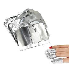 100pcs Nuevo Papel de Aluminio para Removedor de Uñas UV Gel Esmalte Manicura