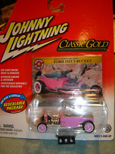JOHNNY LIGHTNING CLASSIC GOLD series PINK '23 Ford T Bucket 1/64 New