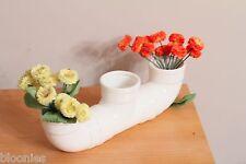 "Plumbing Pipe 14"" Ceramic Flower Vase"