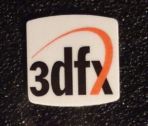 3dfx case Label / Aufkleber / Sticker / Badge / Logo 20x20mm [301]