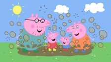 "Peppa Pig Tv Cartoon Children Bedroom Kids 16""x20"" Canvas Picture Wall Art Print"