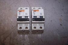(2) MERLIN GERIN 6 AMP CIRCUIT BREAKER 240/480 VAC 2 POLE C60N C6 LOT OF 2