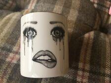 "Lauren Dickinson Clarke -bone china pot (no candle) ""The Poet"" brushes,pens? BN"