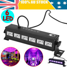 UV Bar 6 X 3w LED Batten UltraViolet Black Light DJ Disco Club Party High Power