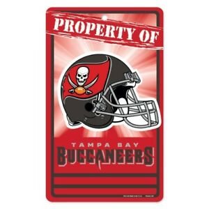 """Tampa Bay Buccaneers Property Of Sign 7.25""""x 12"""""""
