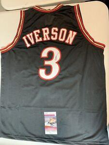 Allen Iverson Autograph Signed Philadelphia Black XL Jersey JSA