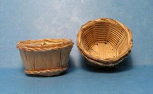 """DOLLHOUSE BUSHEL BASKET 1 1/2 W.x 7/8"""" H. wood accessory Bright Delights.1:12"""