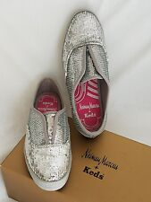 Keds for Neiman Marcus: Silver Sequin Slip-on Sneaker-Women's Size 5 1/2 M