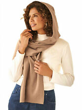 Fleece Womens Hooded Wraparound Scarf