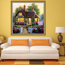 DIY 5D Handmade Beautiful Garden House Counted Cross Stitch Diamond Embroidery