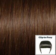 Clip-In-Pony haselnussbraun #06, Premium-Remy-Echthaar, Haarpony mit Clips