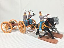 Vintage 1970's Plasty Western Civil War Confederate Gun Carriage Timpo Swoppet