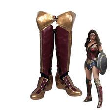 Batman v Superman Wonder Woman Diana Prince Long Boots Cosplay Shoes Custom Made