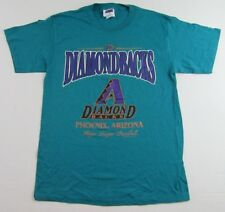 Vintage '99 ARIZONA DIAMONDBACKS MLB Team Green SS T Shirt Size L