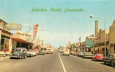 Avenida Ruiz Main Street Ensenada Baja Mexico Postcard Autos 6282