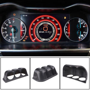 1X Carbon Fiber Look Car Dash 3 Hole Triple Gauge Meter Mount Holder Pod 60mm