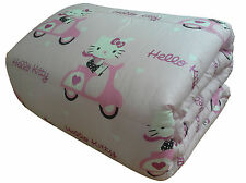 Trapunta singola Gabel Hello Kitty170x26ocm Stampa Foto Made in Italy Col.rosa