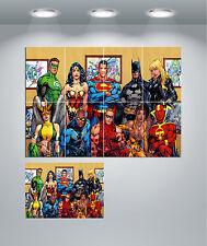 La Liga De La Justicia Super Héroe Batman Superman.. Gigante Pared arte cartel impresión
