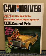 1968 December CAR and DRIVER Magazine Grand Prix (Siata Spring:Super Snare) A9-2
