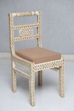 Handmade Indian Camel Bone Inlay Modern Antique Wooden Furniture Chair
