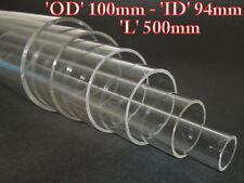 Acrylic Basic Pressure Hulls OD 100mm x ID 94mm x Long 500mm ( Thick 3mm )