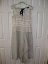 New Rachel Roy White/Black Asymmetrical Dress, Size - 8