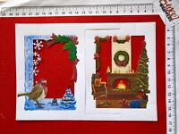 DECOUPAGE CARD Tattered Lace 3D Die Cuts 4x Staying Home For Christmas Symphony