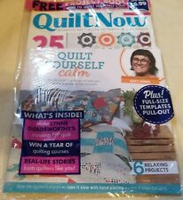 Quilt Now Magazine + Quilt Yourself Calm Mindful Makes & Tops Booklet #49 2018