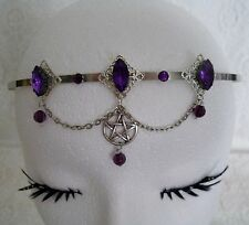 Pentacle Circlet wiccan pagan wicca witch witchcraft pentagram headpiece gothic