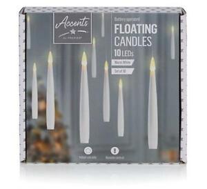 Premier 10pcs 15cm Floating Christmas Candle Decorations w/ Remote Control