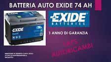 BATTERIA AUTO EXIDE EB740  74AH SPUNTO 680EN