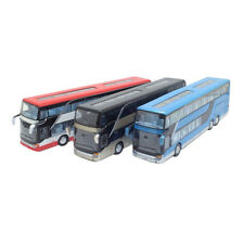 1:32 Alloy Bus Pull Back Model Night View Collectible Die Cast Double Kids Gift