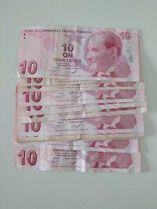 Leftover holiday money 130 Turkish lira