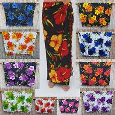 Wickeltuch Sarong Pareo Wandbehang Lungi Sari Hibiskusblüten verschiedene Farben
