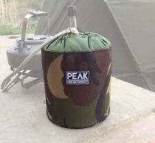 Peak angling products Gas cannister cover made from Cordura fabric CAMOUFLAGE