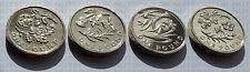 Set Of 4 BU Floral Emblems England, Ireland, Scotland & Wales £1 Coins