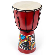 More details for 6 inch djembe african hand drum mahogany standard goat skin drumhead