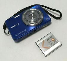 Sony Cyber-shot DSC-WX150 18.2MP Digital Camera - Blue   W/ Battery